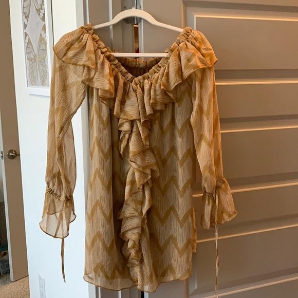 NWT House of Harlow x revolve ruffle mini dress